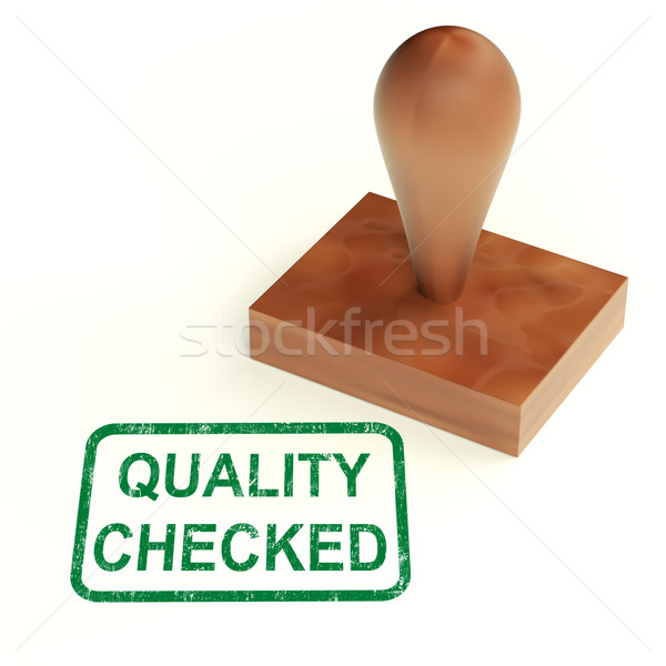 Quality Checked Stamp Shows Product Tested Ok Stock photo © stuartmiles