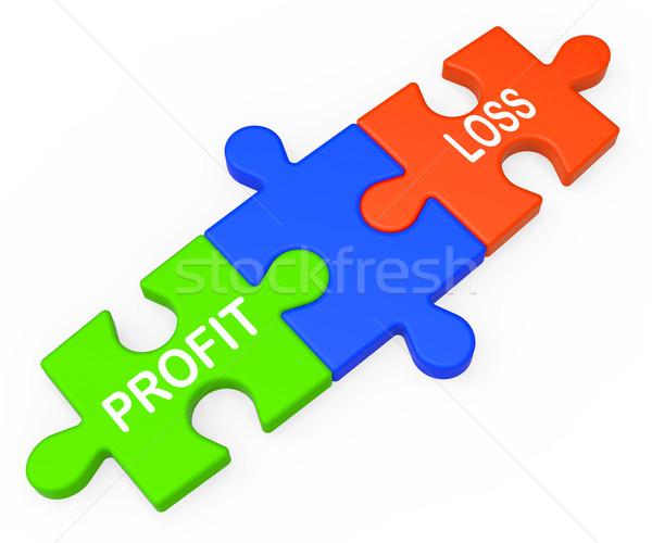 Profit Loss Shows Returns For Businesses Stock photo © stuartmiles