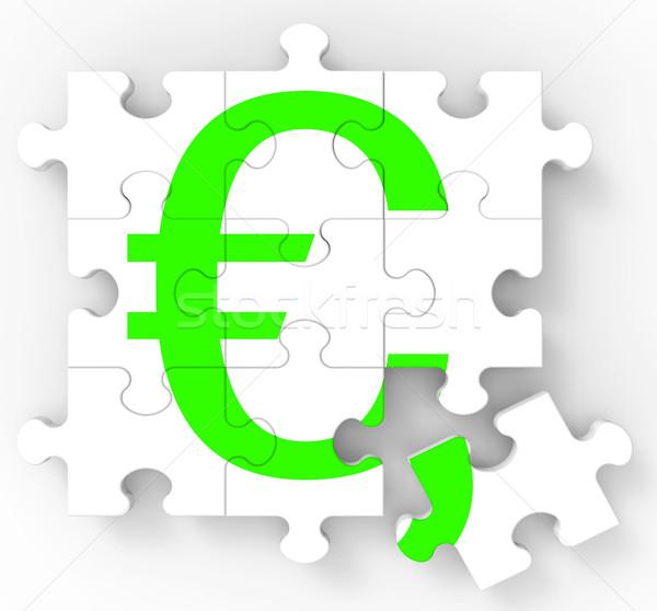 Сток-фото: евро · головоломки · европейский · деньги · финансовых