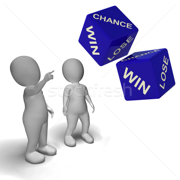Chance Win Lose Dice Shows Luck Stock photo © stuartmiles