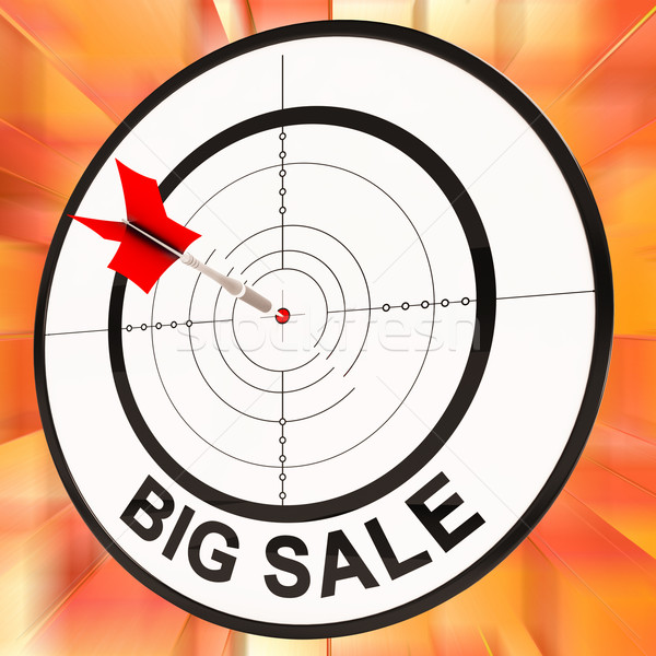 Big Sale Shows Discount And Cheap Pricing Stock photo © stuartmiles