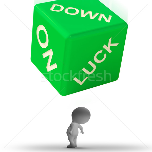 Lefelé szerencse kocka kudarc jelentés hazárdjáték Stock fotó © stuartmiles