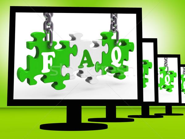 Gyik mutat kérdez képernyő segítség puzzle Stock fotó © stuartmiles