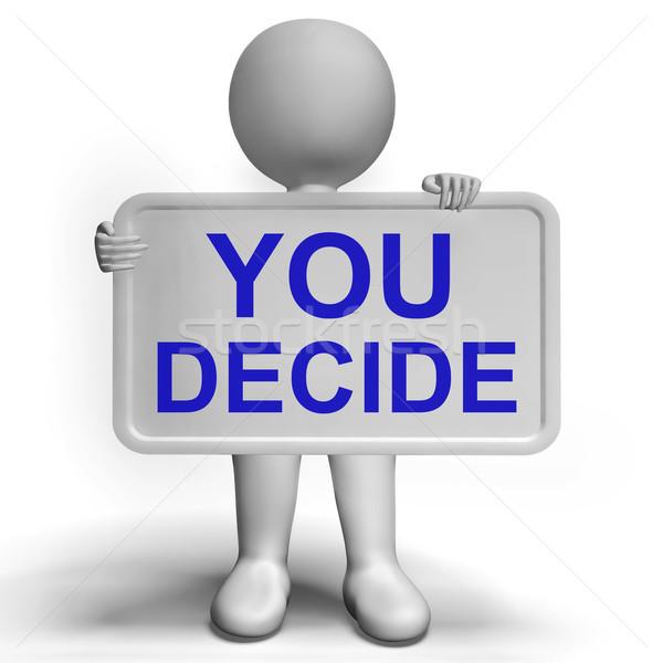 Entscheidung Zeichen Unsicherheit Entscheidungen Stock foto © stuartmiles