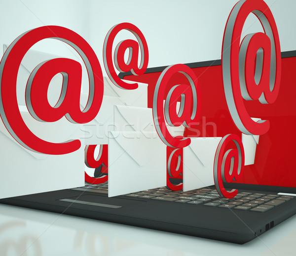 メール 標識 ノートパソコン 電気通信 を ストックフォト © stuartmiles