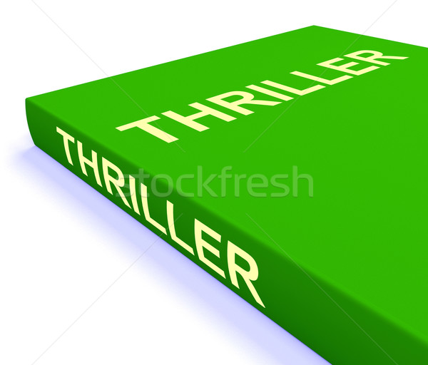 Thriller Book Shows Books About Action Adventure And Mystery Stock photo © stuartmiles
