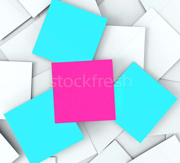 Blank Post it Messages Shows Copyspace To Do And Note Stock photo © stuartmiles