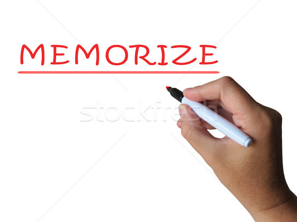 Memorize Word Means Commit Information To Memory Stock photo © stuartmiles