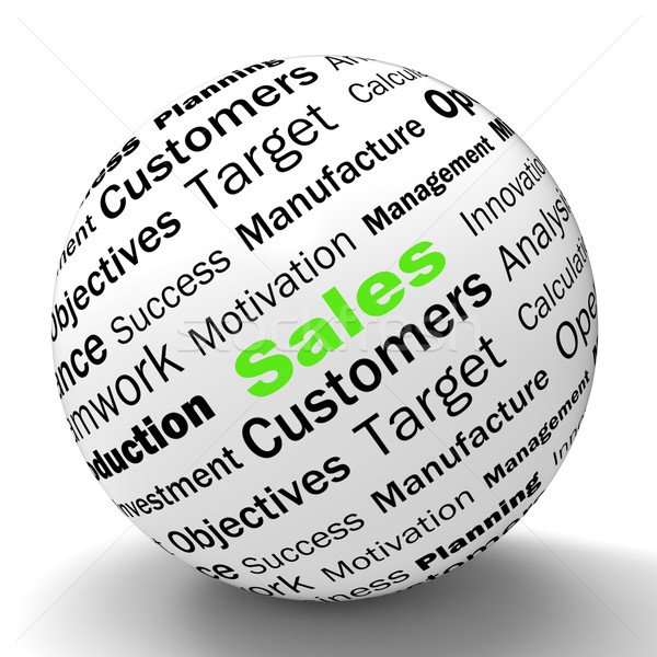 Sales Sphere Definition Means Price Reduction And Clearances Stock photo © stuartmiles