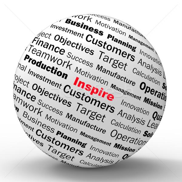 Inspirál gömb meghatározás motiváció pozitivitás jelentés Stock fotó © stuartmiles