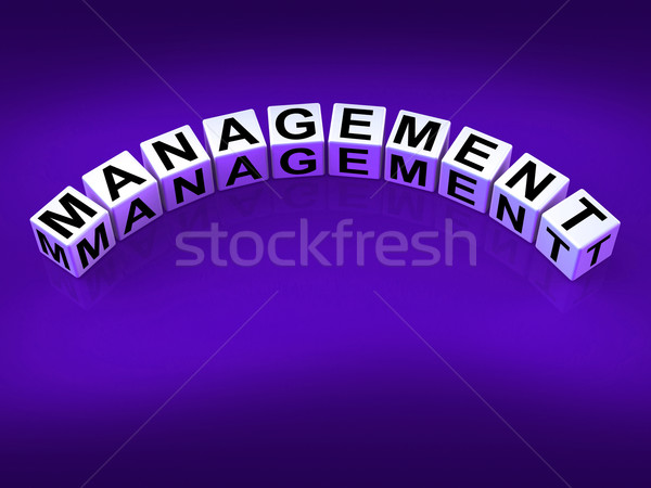 Management Dice Mean Running Of Business And Executives Stock photo © stuartmiles