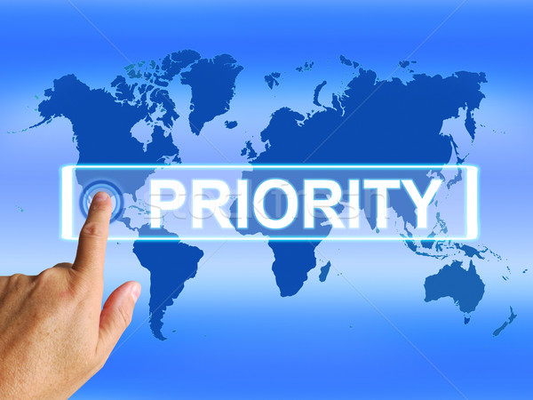 Priority Map Shows Superiority or Preference in Importance Inter Stock photo © stuartmiles