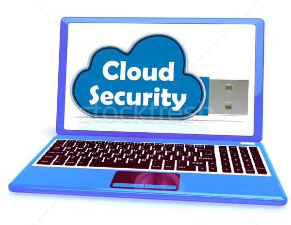 Nube seguridad memoria cuenta login Foto stock © stuartmiles