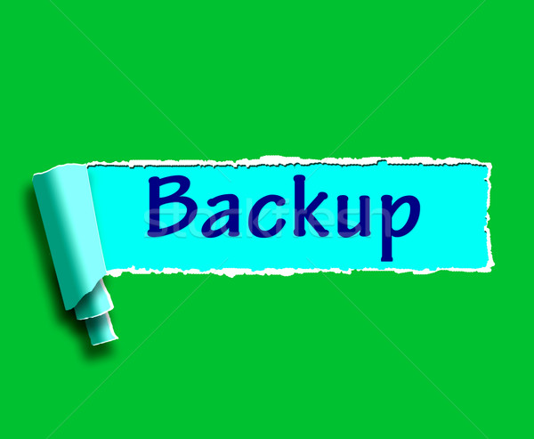 Backup Word Shows Data Copying Or Backing Up Stock photo © stuartmiles