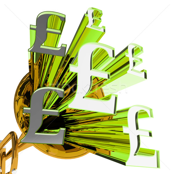 Pound Signs Means Currency Of Great Britain Stock photo © stuartmiles