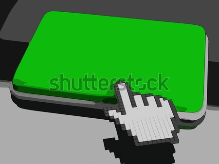 Cursor Hand On Key Background Shows Blank Copy space Click Here Stock photo © stuartmiles
