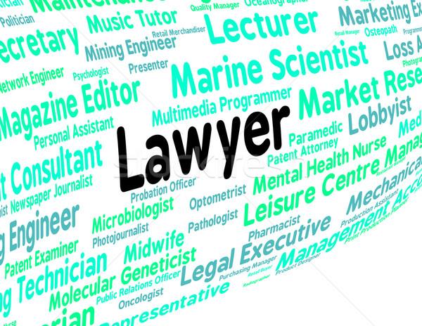 Advocaat baan juridische beoefenaar tonen vertegenwoordiger Stockfoto © stuartmiles