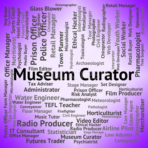 Museum Curator Indicates Museums Steward And Gallery Stock photo © stuartmiles