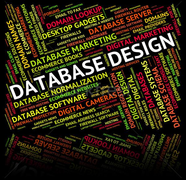 Database ontwerp computer woorden woord Stockfoto © stuartmiles
