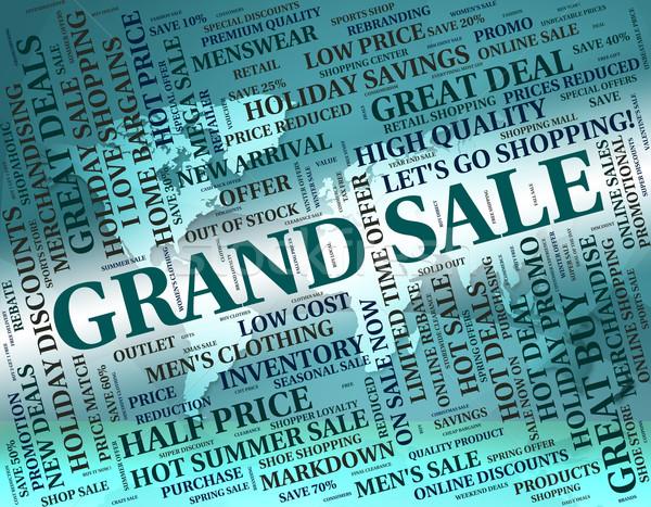 Vásár promóció jelentés kiárusítás eladó kiskereskedelem Stock fotó © stuartmiles