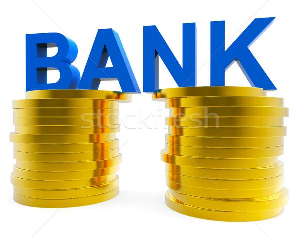 Bank megtakarított pénz haladás pénzügyek vagyonos jelentés Stock fotó © stuartmiles