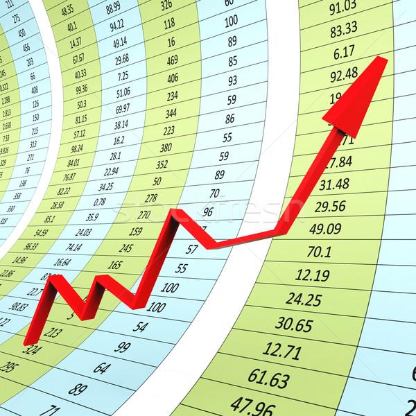 Progreso gráfico financiar Foto stock © stuartmiles