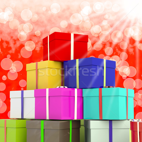 Stok fotoğraf: Bokeh · hediyeler · aile · mutlu · doğum · günü