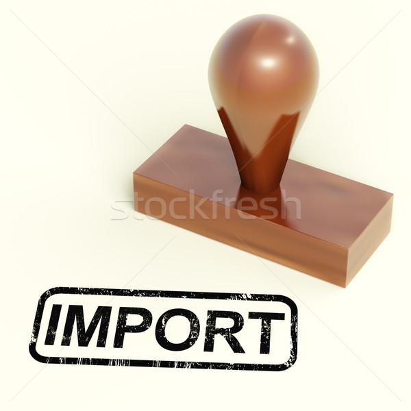 импортный штампа товары продукции Сток-фото © stuartmiles