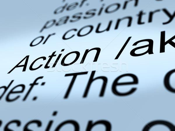 Acción definición primer plano proactivo Foto stock © stuartmiles