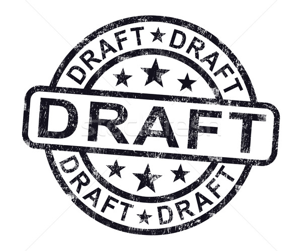 Draft Stamp Shows Outline Document Or Letter Stock photo © stuartmiles