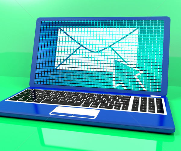 Email Icon On Laptop Showing Emailing Or Contacting Stock photo © stuartmiles