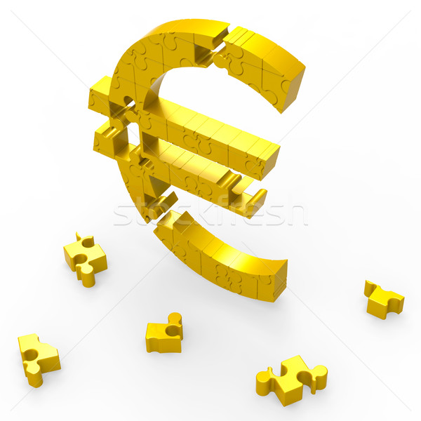 Euro Symbol Shows Currency Exchange In Europe Stock photo © stuartmiles
