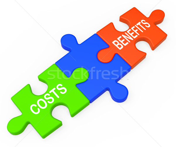 Costs Benefits Shows Analysis Of Investment Stock photo © stuartmiles