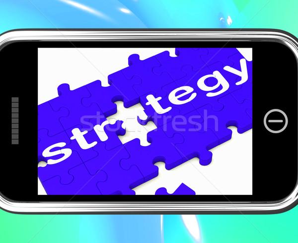 Estratégia planejamento tática teia móvel Foto stock © stuartmiles