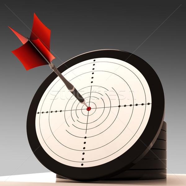 Target Aim Shows Excellence And Achievement Stock photo © stuartmiles