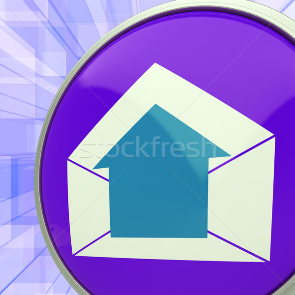 E-mail Symbol Shows Message Outbox Envelope Communication Stock photo © stuartmiles