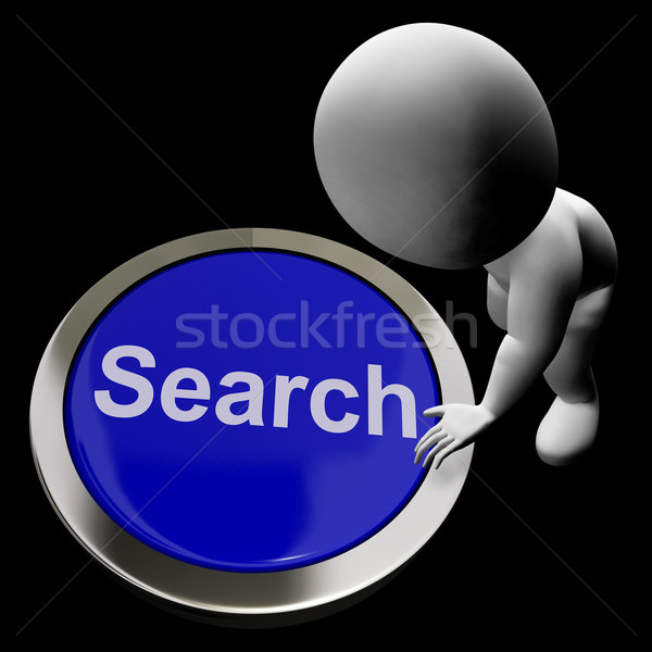 Search Button Showing Internet Access And Online Researching Stock photo © stuartmiles