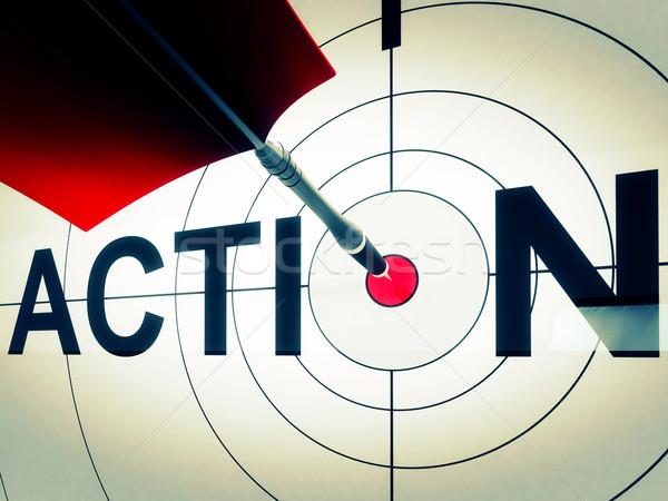 Ação ativo motivação proativa alvo conduzir Foto stock © stuartmiles