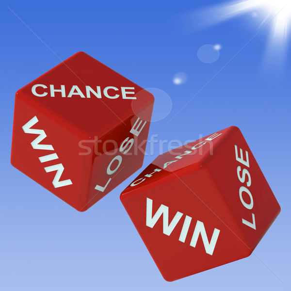 Chance, Win, Lose Dice Shows Gambling  Stock photo © stuartmiles