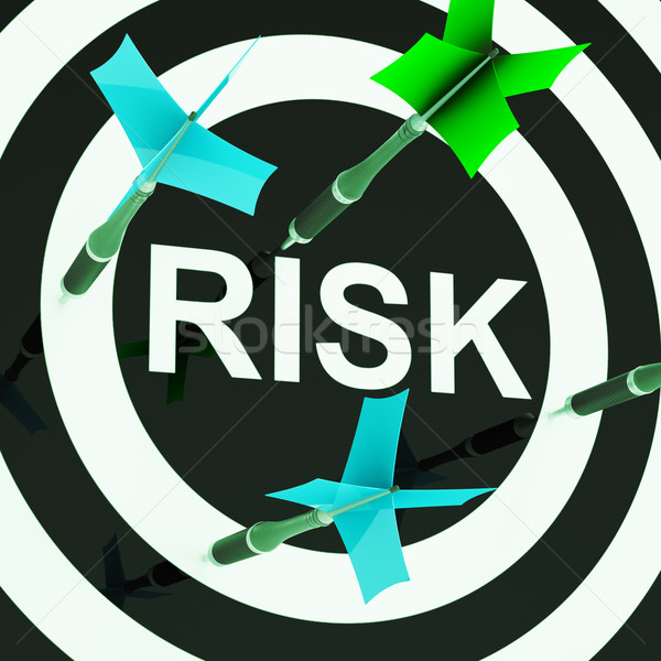 Risk On Dartboard Shows Unsafe Stock photo © stuartmiles