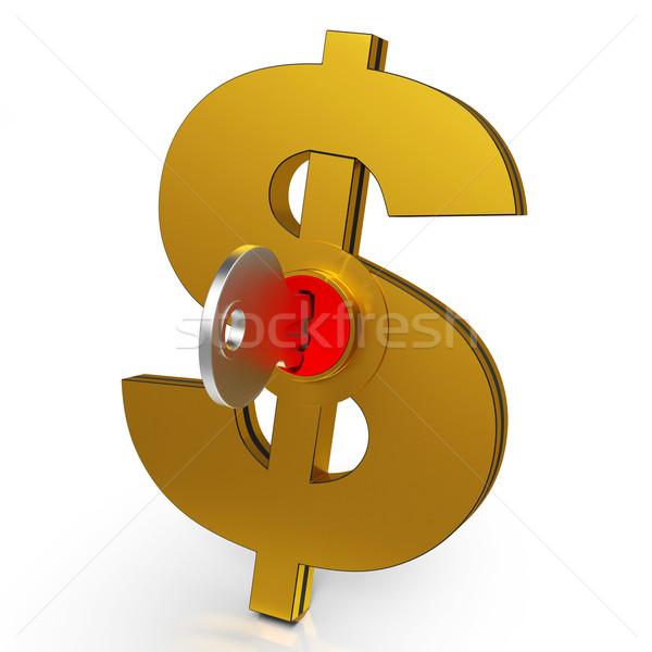 Сток-фото: доллара · ключевые · экономия · Финансы · банковской · безопасности