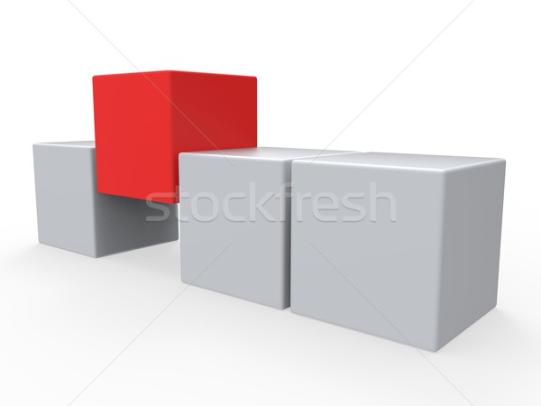 Stock photo: Standing Out Meaning Different Or Outsider
