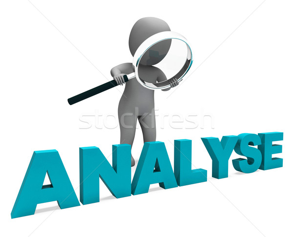 Analyse Character Shows Investigation Analysis Or Analyzing Stock photo © stuartmiles