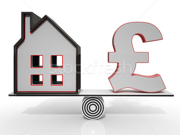 House And Dollar Balancing Show Investment Stock photo © stuartmiles