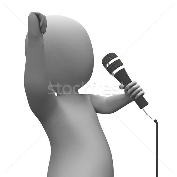 Stock photo: Entertainer Singing Shows Music Or Concert Performance