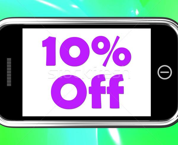 Ten Percent Phone Shows Sale Discount Or 10 Off Stock photo © stuartmiles