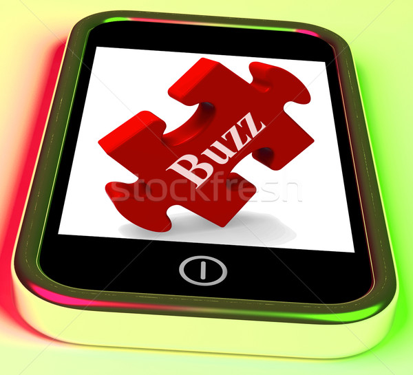 Buzz Smartphone Means Creating Publicity And Awareness Stock photo © stuartmiles