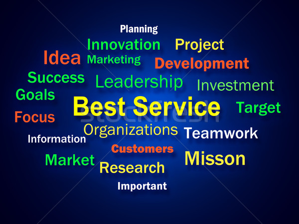 Best Service Brainstorm Shows Steps For Delivery Of Services Stock photo © stuartmiles