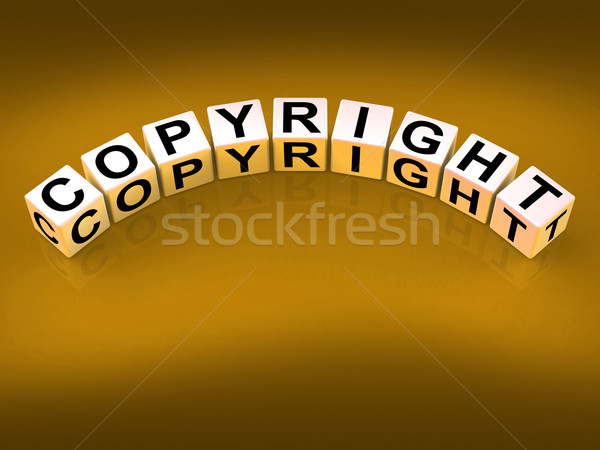 Copyright Blocks Show Patent and Trademark for Protection Stock photo © stuartmiles