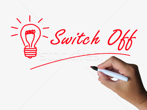 Switch Off Lightbulb Refers to Switching or Turning Stock photo © stuartmiles
